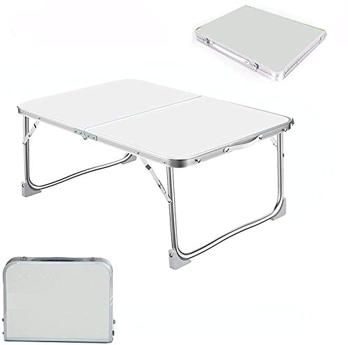 PowerTools 120CM White Aluminum Protable Folding Table, 3 Gear Adjustable Height 70/62/55CM,Lightweight Portable Camping Table For Home Garden Camping BBQ, Picnic, Party, Outdoor, Easy Clean