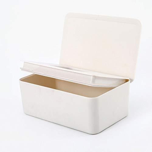 HUIHU Caja de pañuelos húmedos Caja a Prueba de Polvo para el hogar Escritorio con Tapa Caja de pañuelos húmedos Caja de plástico Simple sellada vacía Caja simple-01