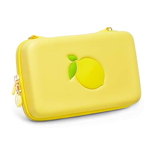 Geekshare Lemon Switch Travel Carrying Case for Nintendo Switch Games Hard Shell Portable Storage Bag for Switch & Game Accessories(Yellow)