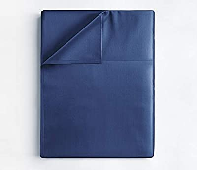 King Size Flat Sheet - Single Flat Sheet King - King Flat Sheet Only - Flat Sheet Deep Pocket - Flat Sheet for King Mattress - Softer Than Egyptian Cotton - King - 1 Flat Sheet Only King