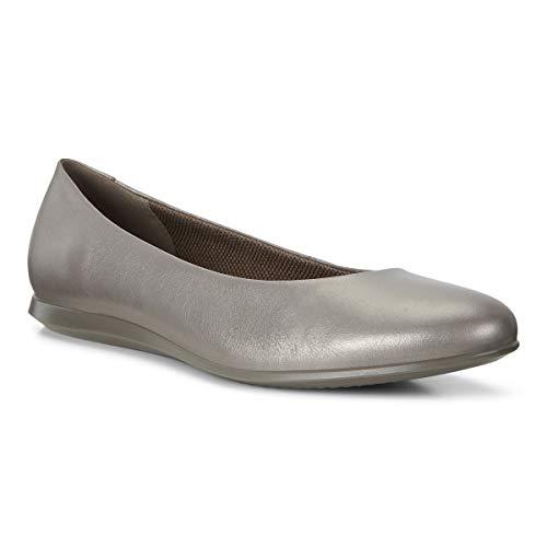 Ecco Damen Touch Ballerina 2.0 Geschlossene Ballerinas, Grau (Stone Metallic 51567), 39 EU