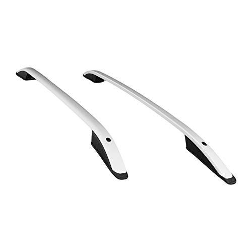 RE&AR Tuning Barras de Techo Aluminio rieles Portaequipajes Barras Superiores Rail laterales juego para Nissan Qashqai 2014-2021 L1/H1 Gris