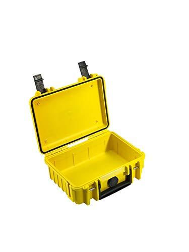 B&W Transportkoffer Outdoor Typ 500 gelb - wasserdicht nach IP67 Zertifizierung, staubdicht, bruchsicher und unverwüstlich