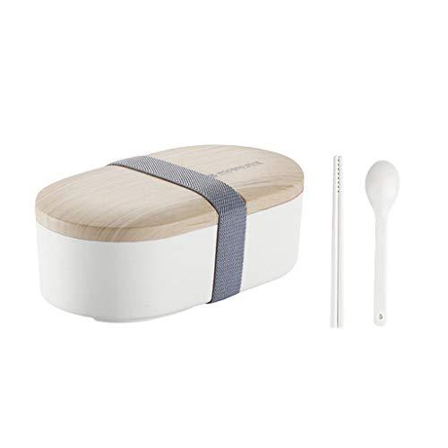 Blankspace Tome la caja de almuerzo de madera Shoushi Lie con vajilla, blanco