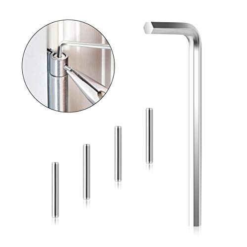 AIEVE Self Closing Door Hinge Pin, Hex Wrench and 4 Pack Spring Hinge Tension Pin Replacement Kit for Adjust Self Closing Door Hinges Self Closing Hinges