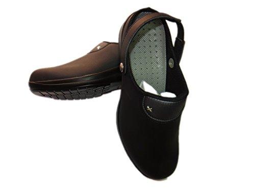 Siili Safety R 793 SB-E-A, Damen, Frauen Arbeitsschutz Clogs mit Riemchen - antibakteriell; schwarz, Gr. 39