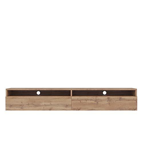 Selsey - REDNAW - Meuble TV - 180 cm - chêne wotan - scandinave - Moderne