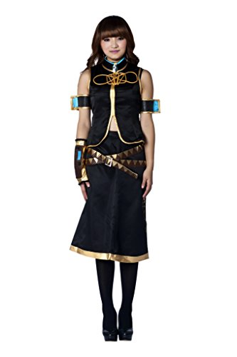 Ilovcomic Women's Vocaloid Cosplay Megurine Luka Costume Size XX-Large Schwarz
