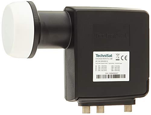 TechniSat Universal-SCR 8+2 LNB - Einkabel-LNB mit Zwei Legacy-Ausgängen (Sat-LNB mit Wetterschutzgehäuse, 40 mm Feed-Aufnahme) schwarz