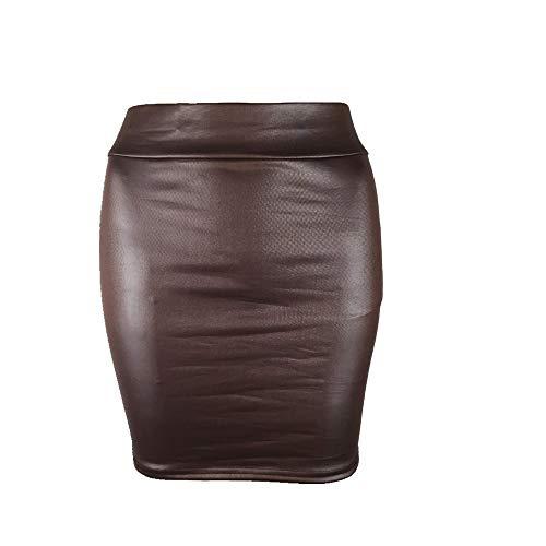 U/A Falda De Cuero De Fondo De Falda De Cuero Paquete De Falda De La Cadera Marrón marrón 48
