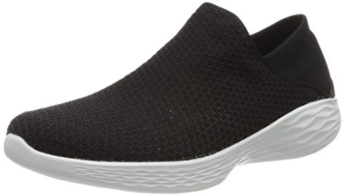 Skechers Damen You Slip On Sneaker, Schwarz (Bkw), 40 EU