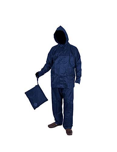 Duckback Men's Rider Solid Raincoat Rainsuit pant style with Jacket (X-large Size)
