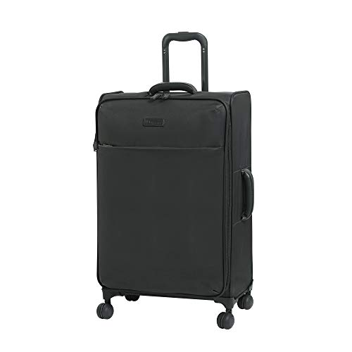 it luggage Lustrous Lightweight Expandable Spinner Wheels, Charcoal, Checked-Medium 28-Inch