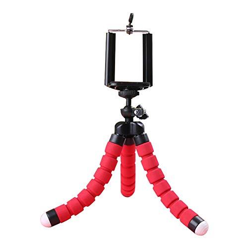 Westeng Mini Trípode Móvil Portátil Diseño de Esponja Soporte del Trípode para Smartphone, Cámara, Phone, Trípode de Viaje Universal (Rojo)