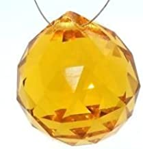 40mm Asfour Crystal Ball Prisms #701-40 (Amber)