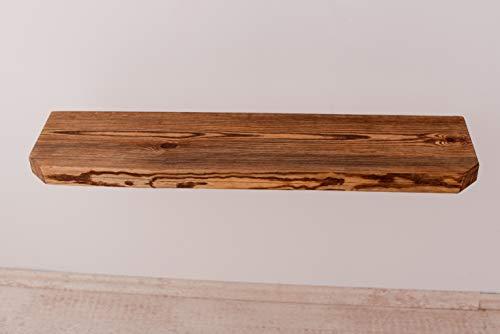 Larisa Rustikal Wandregal dunkle Eiche mit Wachs bedeckt Verschiedene Längen unbeschnittene Seite des Regals!! (80x zirka20)
