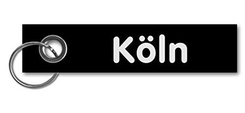Samunshi® Schlüsselanhänger Köln Keychain Schlüsselbund Schlüsselring Samunshi Köln 13x3cm schwarz/weiß