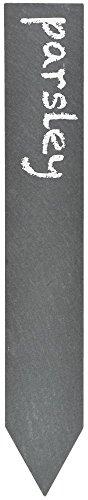 """Esschert Design Schiefer Pflanzschild, 6er Set, aus dem Material """"Schiefer"""", 19,5 x 3,1 x 4,0 cm"""