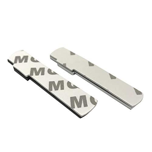 XMSM Raccordi per carrozzeria Auto per Audi S Line A1 A2 A3 A4 A5 A6 A7 A8 S3 S6 B6 Parafango Auto per Sline Logo Sticker Metal 3D Badge 2Pcs (Color : Matte Black)