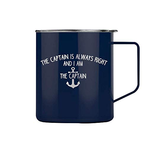 The Captain is Always Right Wine Mug