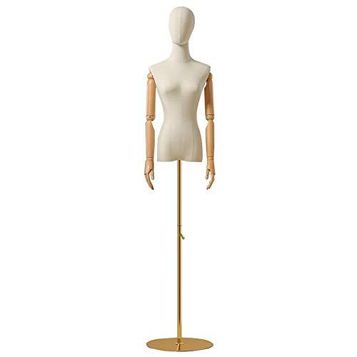 ZBM--ZBM Maniquí, Maniquíes Modelo De Busto De Mujer Femenina Tienda De Ropa Expositor Vestido De Novia Modelo De Ventana Maniquí Estante maniquí de Ropa (Color : C, Size : M)