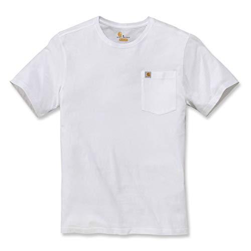 Carhartt .104266.WHT.S006 Southern Pocket Manica Corta T-shirt Uomini, Bianco, L Taglia