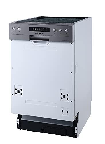 respekta Einbaugeschirrspüler 45cm mit Display, teilintegriert Typ/Modell: GSP 45 TID MA++ Silber