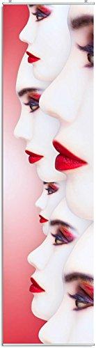 artex deko Schiebegardine Grace Digitaldruck mit Paneelwagen, Klemmleiste, Schiebevorhang, Flächengardine 245 x 60 cm