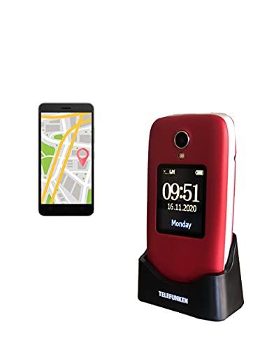 Telefunken S560 - Teléfono móvil, Rojo