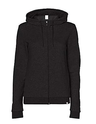 CARE OF by PUMA Sudadera con capucha, tejido de rizo y cremallera para mujer, dark grey, 38, Label: S