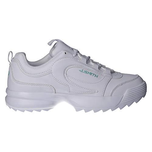 Zapatillas Mujer John Smith Vai Blanco/Celeste