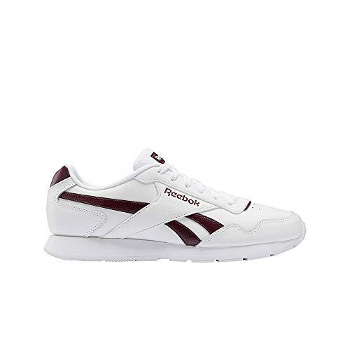 Reebok Royal Glide, Zapatillas de Running para Hombre, Blanco/Granat/Blanco, 44 EU