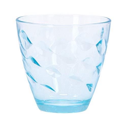 Bormioli Rocco 1662017 Flora Lot de 6 Eau en Verre de Couleur Bleu, 26 cl