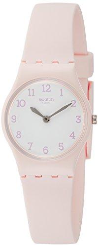 Swatch Damen Analog Quarz Uhr mit Silikon Armband LP150