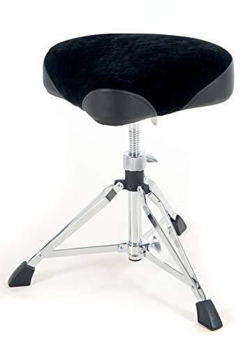 GEWA pure Schlagzeughocker Sattelsitz DT-410, höhenverstellbar, doppelstrebig