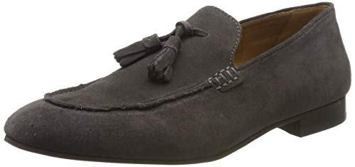 H by Hudson Bolton Suede Loafer, Mocassins Homme, Gris (Grey 55), 43 EU