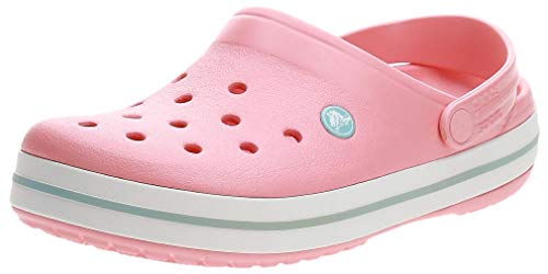 crocs Unisex-Erwachsene Crocband Clogs, Melon/Ice Blue, 42/43 EU