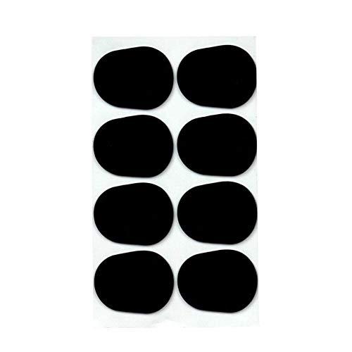 Blasinstrument Zubehör 8pcs Alto Tenor Saxophon Klarinetten-Mundstück Kissen Patches Pads Schwarz 0,3 Mm Dicke Musikinstrument Zubehör Teile (Color : Black)