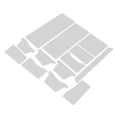 Milageto 3 unids/set cuero artesanía clásico cartera Plantilla de acrílico herramientas de corte patrón conjunto modelo claro para la bolsa haciendo billetera