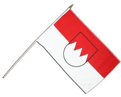 Stockflagge Deutschland Franken - 30 x 45 cm
