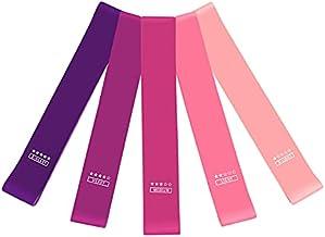 Fitnessband, 5 soorten weerstandsbanden met verschillende trainingsintensiteiten, 5 stuks