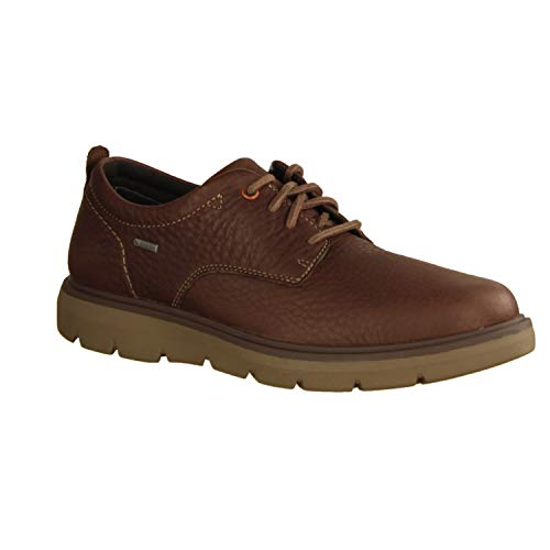 Clarks Shoes UN MAP LO GTX Größe 48 EU Dark Brown LEA