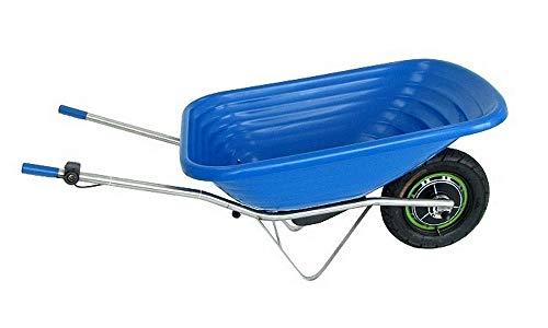Smartwiel AKKUSCHUBKARRE KLASIK Elektroschubkarre Motorschubkarre Tragfähigkeit 150 kg (85 l, Blau) Li-Ion AKKU