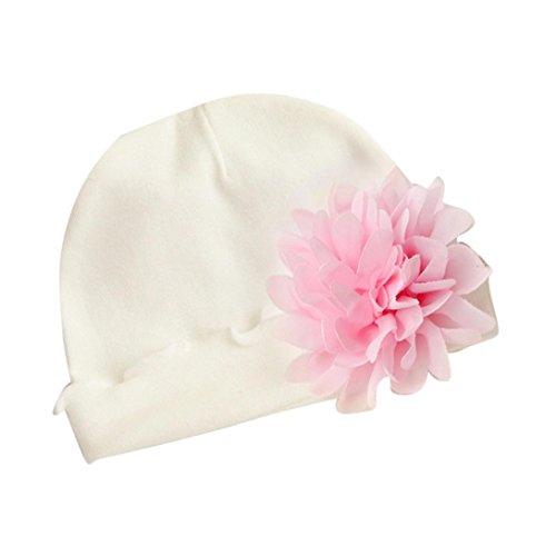 Babybekleidung Hüte & Mützen Longra Neugeborenes Baby Mädchen Kleinkind Blume Hut Baumwolle weichen Hut Cap Beanie Mützen (0-24 Monate) (B)