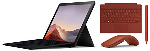 Microsoft Surface Pro 7 PUV-00028 12.3 inch Touchscreen 2-in-1 Laptop (10th Gen Intel Core i5/8GB/256GB SSD/Windows 10 Home/Intel Iris Plus Graphics), Black+Type Cover +Surface Pen+ Arc Mouse