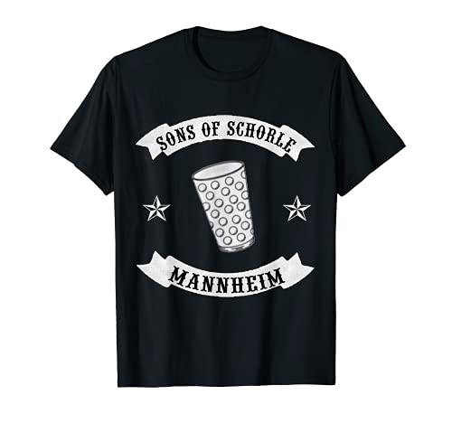 Sons of Schorle Mannheim - Para vino con cristal dubbel. Camiseta