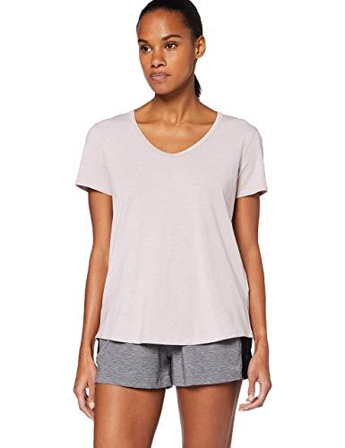 Under Armour Recovery Sleepwear Camisa Manga Corta, Mujer, Rosa, MD