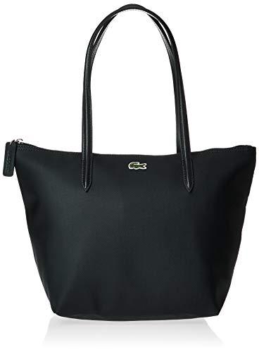 Lacoste NF2037PO Womens L.12.12 Small Tote Bag Shoulder Handbag, Black, One Size