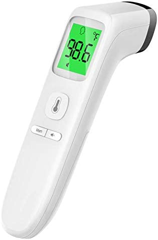 Touchless Thermometer Forehead Thermometer with Fever Alarm and Memory Function Ideal for Babies product image