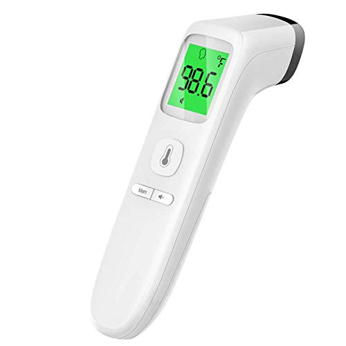 Touchless Thermometer, Forehead Thermometer with Fever Alarm and Memory Function, Ideal for Babies, Infants, Children, Adults, Indoor, and Outdoor Use